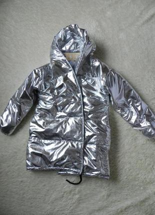 ⛔✅ куртка дутая зефирка зеркалка серебро демисезон