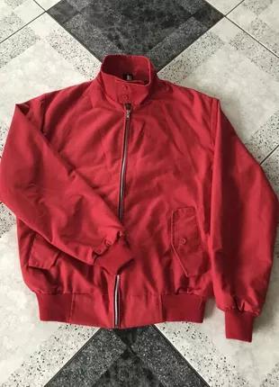 Мужская красная осенняя весенняя куртка бомбер
