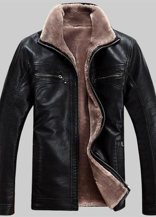 Мужская дубленка с мехом xl (кожаная зимняя куртка) 52-54 размер.