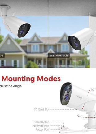 Зовнішня камера Victure Відеоспостереження Wi-Fi IP з нічним б...