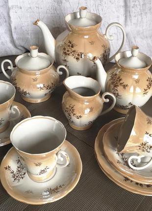 Чайный сервиз на 12 персон родом из ссср