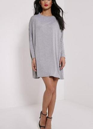 Базовое серое платье из джерси prettylittlething