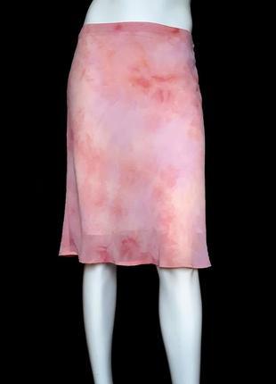 Летняя юбка с акварельным принтом, M