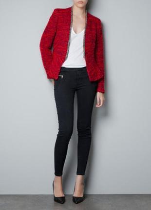 Брендовый твидовый пиджак жакет блейзер зои харт или сердце ди...