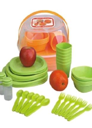NEW Набор для пикника на 6 персон 48 предметов
