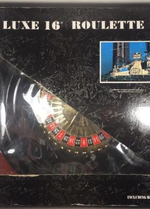 Набор для игры в покер с рулеткой Roulette Set – Deluxe 16″