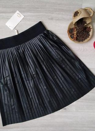 Женская юбка плиссе в складку черная