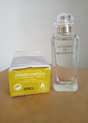 Hermes le jardin de monsieur li 7,5 ml оригинал.