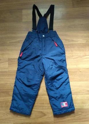 Topolino. зимний полукомбинезон, тёплые штаны на подтяжках