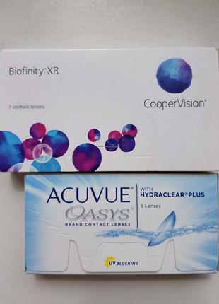 Линзы Biofinity XR и Acuvue Oasys