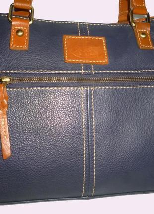 Стильная сумка натуральная кожа rowallan