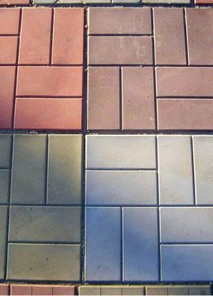 Плитка тротуарная 400х400х50мм, цветная