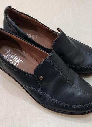 Hotter кожаные туфли на танкетке