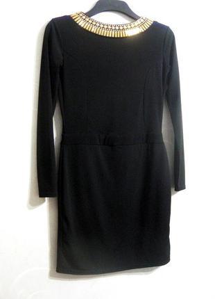 Платье river island чёрное с открытой спиной стразы вечернее u...