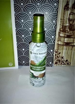 Парфюмированный спрей для тела и волос (кокос) кокосовый орех ...