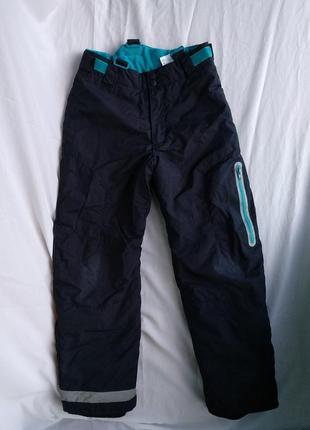 """Термо-штаны """"h&m"""" р.146 мальчику 10-11лет, зимние лыжные брюки..."""
