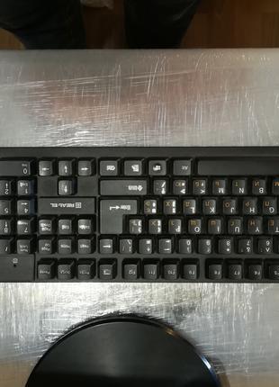 Клавиатура миша бездротова REAL-EL Standard 550 Kit Wireless USB