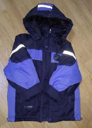 Очень теплая зимняя куртка.4-5 лет.