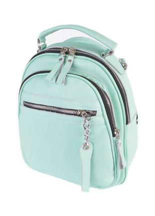 Женский кожаный рюкзак-сумка 2в1 натуральная кожа, сумка на плече