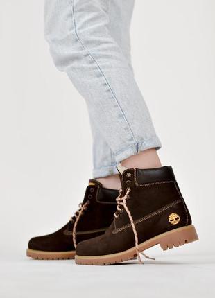 😍timberland bordo😍зимние женские ботинки тимберленд с мехом