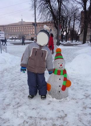 Куртка теплая зимняя  подкладка флис