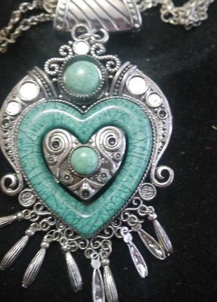 "Ожерелье ""сердце"" + подарок"