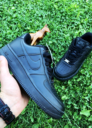 Кроссовки Nike Air Forse Black leather