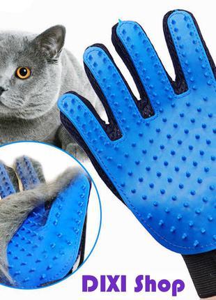Перчатка для вычесывания шерсти животных True Touch массаж,собак,