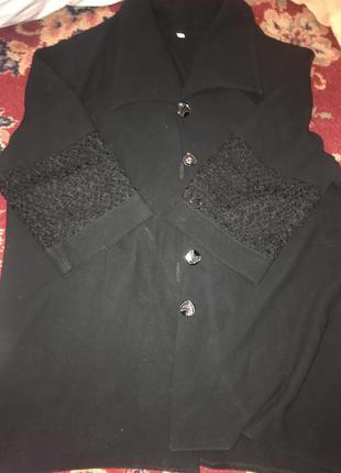 Жакет кофта накидка женская чёрная