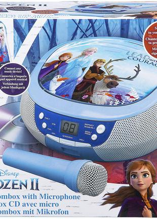 Frozen 2 CD Boombox с FM-радио и реальным микрофоном