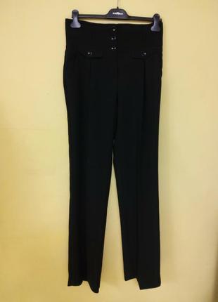 Черные широкие брюки палаццо высокая талия riani  раз.38