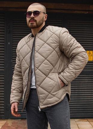 Стильный оверсайз весенний бомбер куртка ветровка