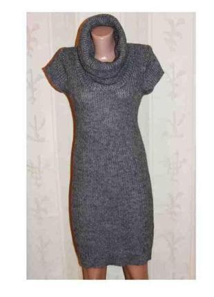 Роскошное платье трикотаж шерсть футляр хомут тм косса, италия