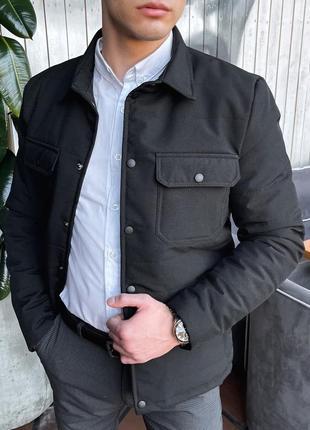 Классическая весенняя куртка ветровка черная