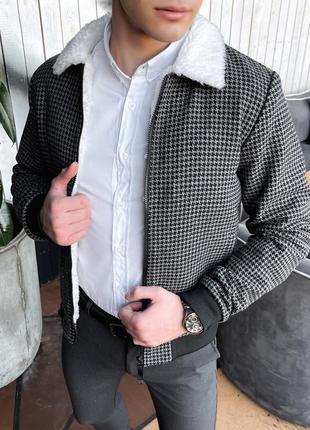 Стильный мужской весенний бомбер куртка ветровка
