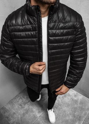 Стильная мужская весенняя куртка ветровка черная