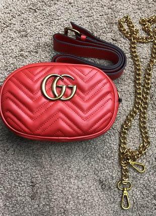 Женская сумочка косметичка Gucci. 4 цвета