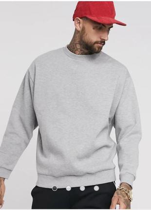 Распродажа свитшота свитер серый лонгслив