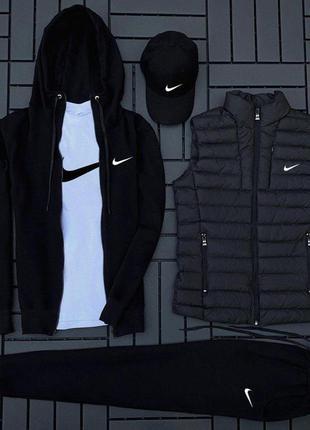 Легкий весенний летний спортивный костюм комплект nike черный...