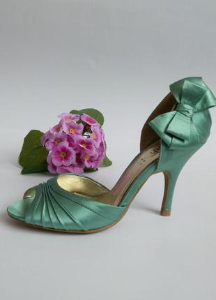 Босоножки туфли на каблуке 35 36 размер новые мятного цвета с ...