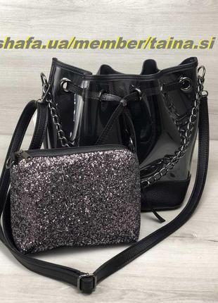 New 2019! стильная прозрачная сумка шопер с косметичкой 2 в 1 ...