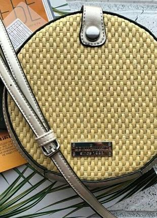 4 цвета! соломенная сумочка клатч сумка круглая ротанг