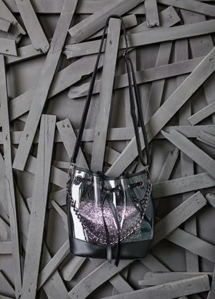 Стильная прозрачная сумка шопер с косметичкой 2 в 1 качество л...