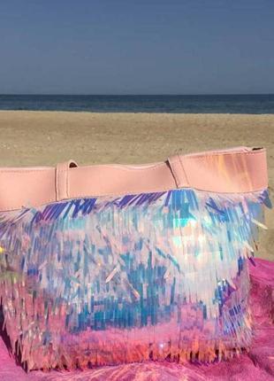 Летняя пудровая сумочка сумка с пайетками
