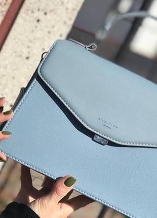 Голубая сумочка david jones клатч сумка на плечо
