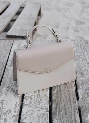 Бежевая сумочка david jones клатч сумка на плечо