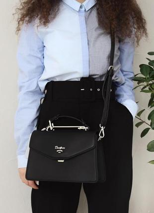 Черная сумочка david jones клатч сумка на плечо