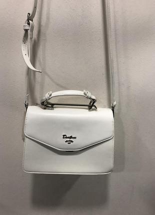 Белая сумочка david jones клатч сумка на плечо