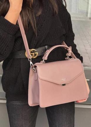 Пудровая сумочка david jones клатч сумка на плечо