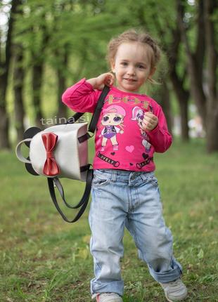 4 цвета! сумка рюкзак микки маус серебристый рюкзачок